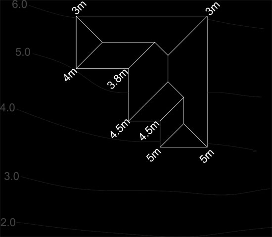 how to work out  calculate and draw d shadow diagrams on sloping    shadow slope